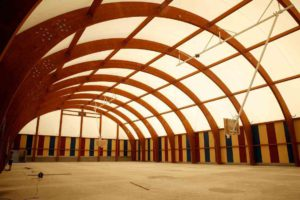 Wooden sports halls