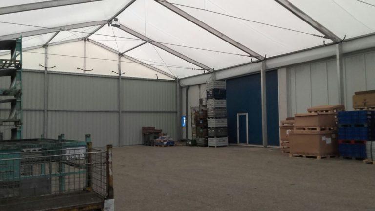 El Grupo Antolín instala en su planta de Porriño una Nave industrial desmontable ALUSPACE para ampliar su capacidad de almacenaje.