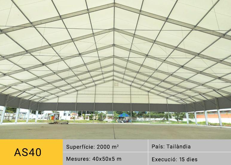 Estructura desmontable ALUSPACE instalada en Tailandia para la empresa SIKA