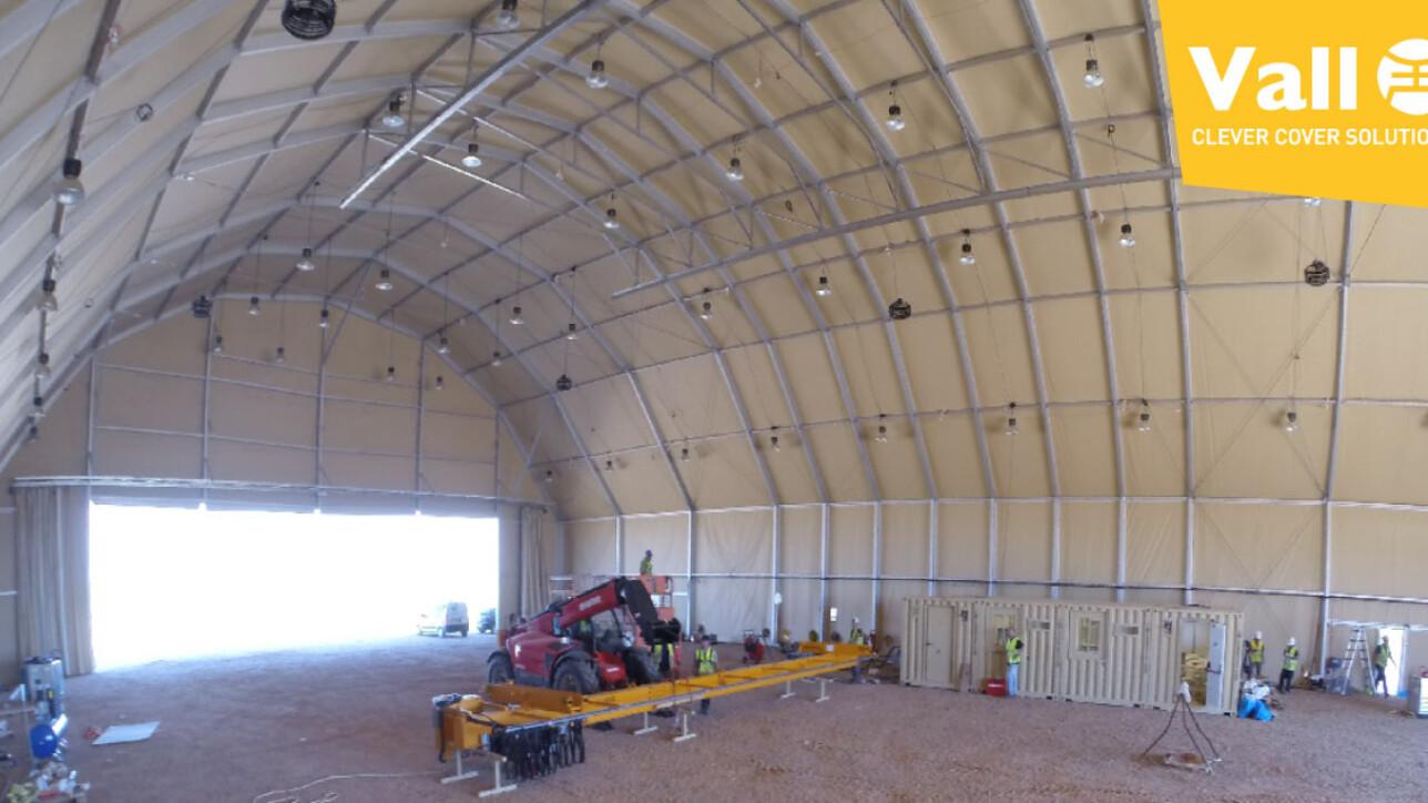 Hangares para aviones operativos en mínimo tiempo